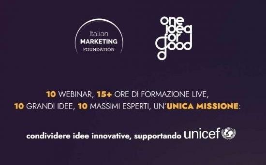 One Idea for Good sostiene Unicef Italia: la formazione diventa solidale
